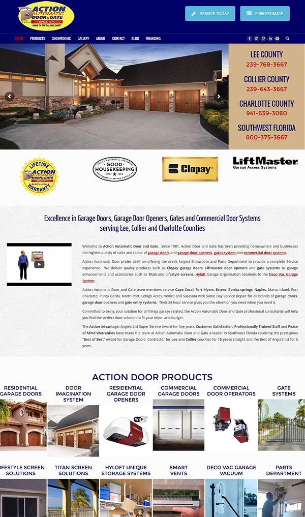 Action Door new website